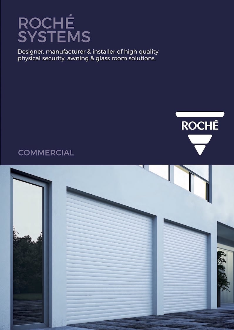 Roché Commercial Awnings Brochure Cover
