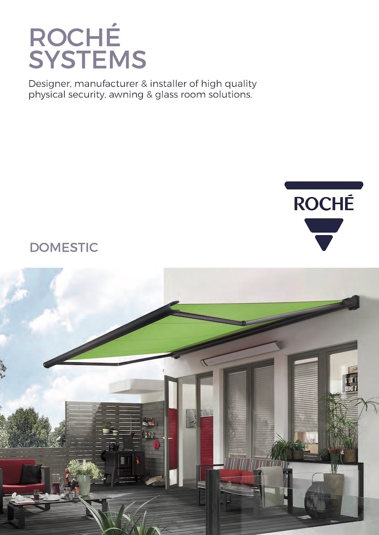 Roché Domestic Awnings Brochure Cover
