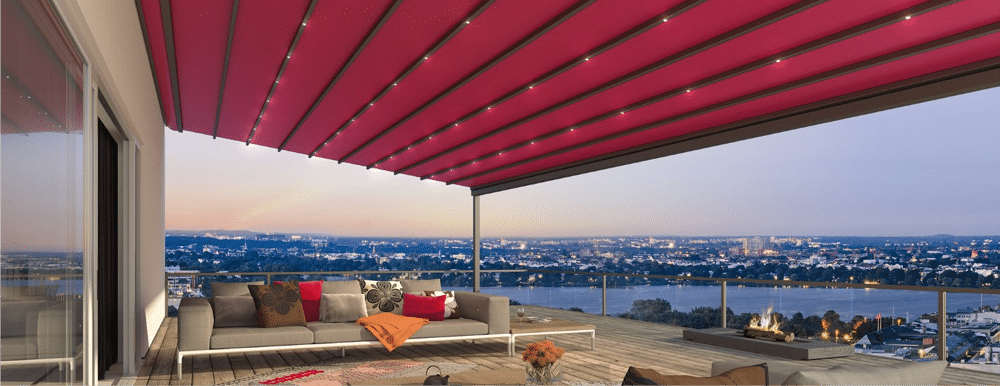 Fabric Roof Veranda with lighting