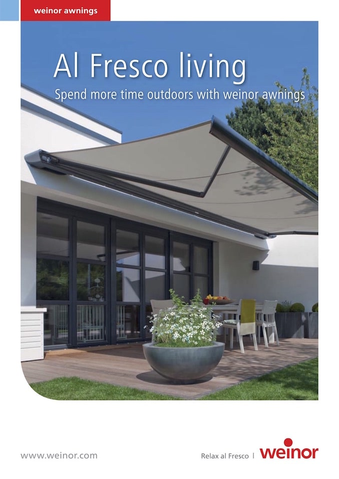 Weinor Al Fresco Living Brochure Cover