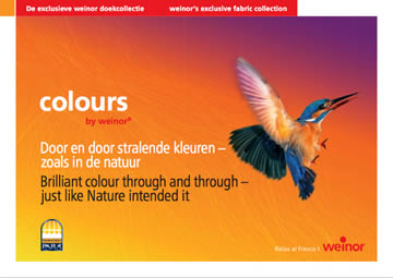 Weinor Fabric Colours Brochure Cover