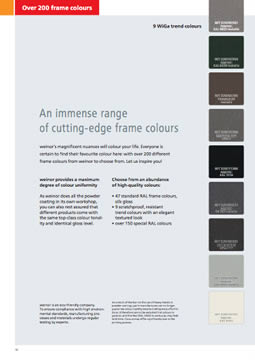 Weinor Frame Colours Brochure Cover