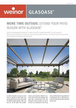 Weinor Glasoase Brochure Cover