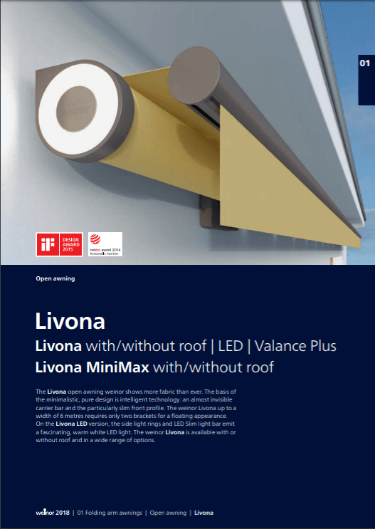 Weinor Livona Manual Cover