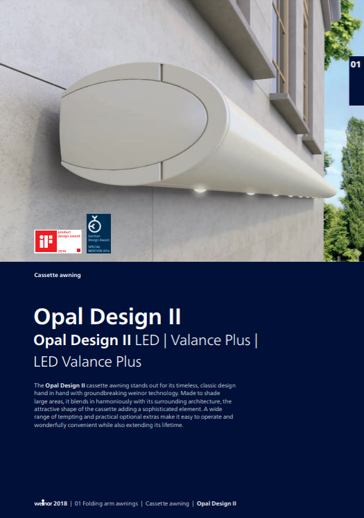 Weinor Opal Design II Sales Manual Cover
