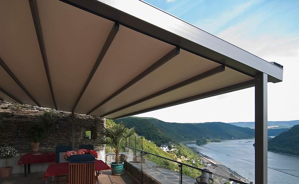 structures solutions retractable seasons shade weathersafe a of sails outdoor the sophisticated helioscreen roof progressive awning offers users systems range wm folding all