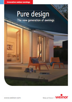 Weinor Pure Design Brochure Cover