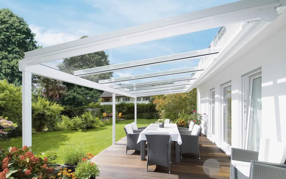 Weinor terrazza glass extensions roch awnings for Glass awnings for home