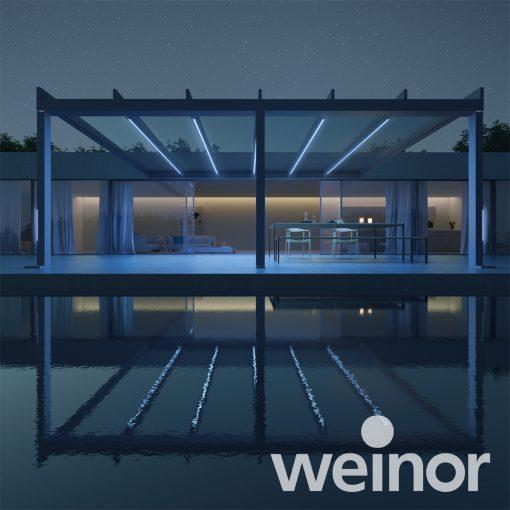 Weinor Terrazza Pure with LED Lighting
