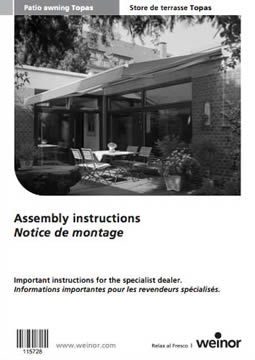 Weinor Topas Assembly Instructions