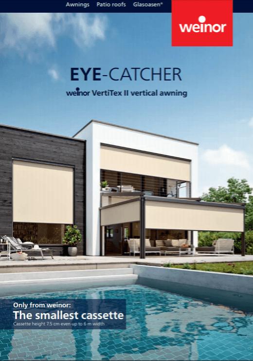 Weinor Vertitex II Vertical Awning Brochure Cover