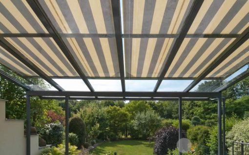 Weinor WGM Conservatory Awning Shade Striped