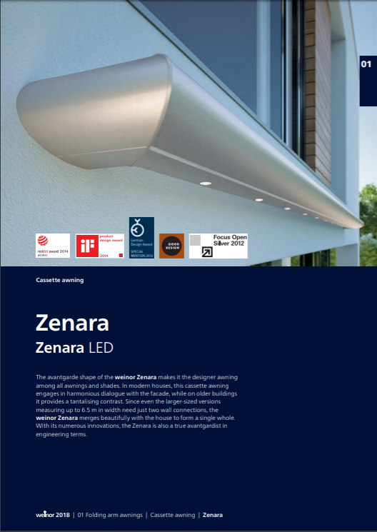 Weinor Zenara Manual Cover