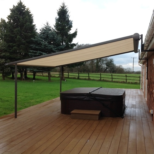 Hot Tub Awning in Garden